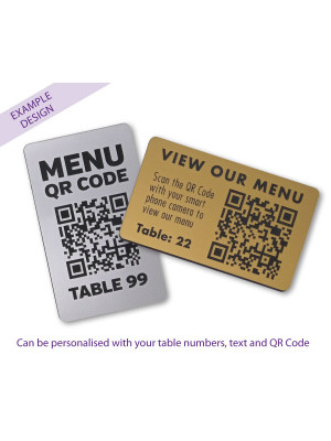 QR Code Table Number 100 x 60mm