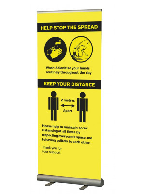 coronavirus prevention roller banner
