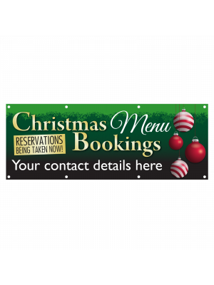 Personalised Christmas Menu Bookings Banner
