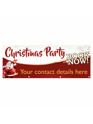 Personalised Christmas Party Bookings Banner