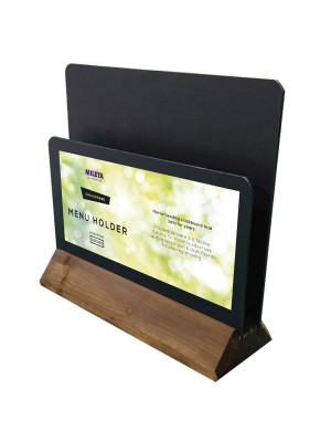 Table Top HPL Chalkboard Menu Holder - Branding Options