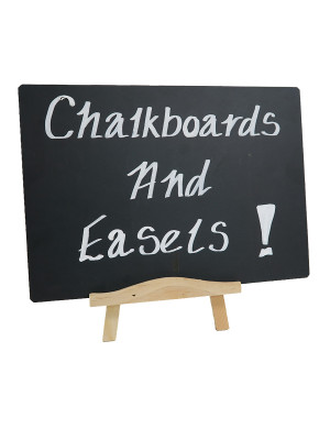 Wooden Easel with Chalkboard Panel - Multiple Sizes