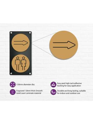 Arrow Symbol 150mm Gold