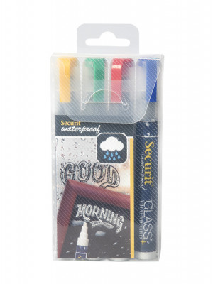 Assorted Colour Waterproof Chalk marker pens. 2-6mm Nib - Pack of 4 | AB171