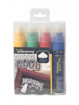 Assorted Colour Waterproof Chalk marker pens. 7-15mm Nib - Pack of 4 | AB169