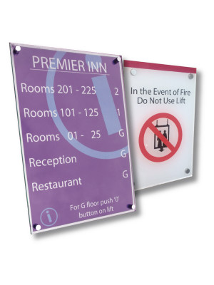 Personalised Acrylic Wall Mounted Sign - Multiple Options