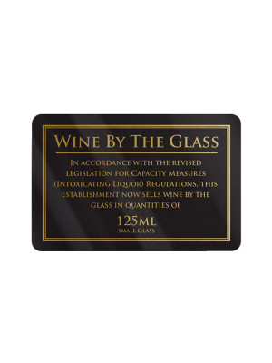 125ml Wine by the Glass Notice - Frame Options