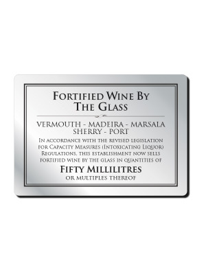 Fortified Wine by the Glass Notice - Multiple Options