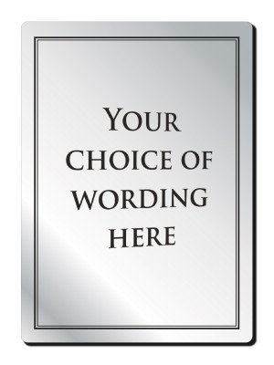A4 Custom Your Own Text Bar Notice - Frame Options