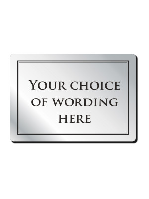 A5 Custom Your Own Text Bar Notice - Frame Options