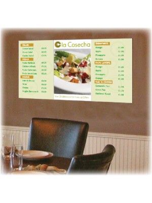 Digitally Printed Menu Boards - Multiple Sizes