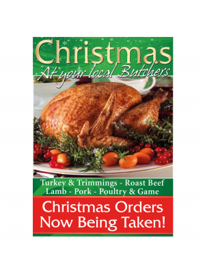 Butchers Christmas Orders Now Being Taken Poster