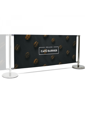 Deluxe Cafe Barrier Extension Kit - 2000mm Double Sided Print