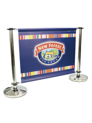 Single Sided Stainless Steel Cafe Barrier System - Full Set - Multiple Sizes
