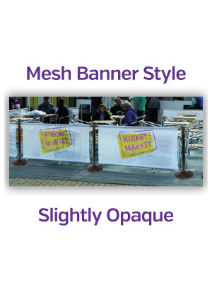 Mesh Single Sided Black Steel Cafe Barrier System - Full Set - Multiple Sizes