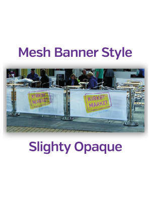 Mesh Single Sided Stainless Steel Cafe Barrier System - Full Set - Multiple Sizes