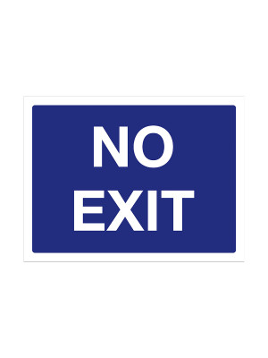 No Exit Exterior Notice - Mount Options