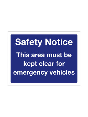 Emergency Vehicle Safety Exterior Notice - Mount Options