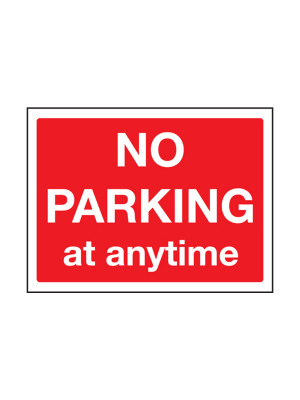 No Parking At Any Time Exterior Notice - Mount Options