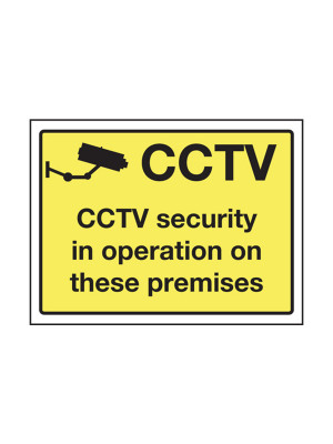 CCTV Security in Operation on These Premises Exterior Notice - Mount Options