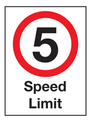 5 MPH Speed Limit Exterior Notice - Mount Options