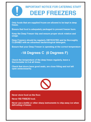 Deep Freezer Temperature Notice - CS014
