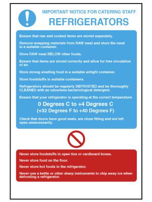 Refrigerator Temperature Notice - CS015