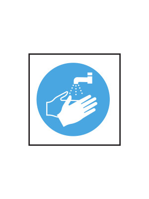 Wash Hands Symbol vinyl sticker - CS022