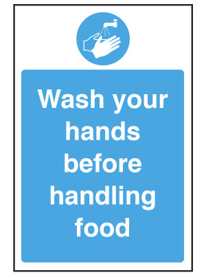 Wash Your Hands Before Handling Food Notice - CS088