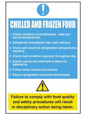 Food Storage Amp Temp Notices Catering Safety Amp Food