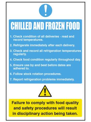 Chilled & Frozen Food Notice - CS095