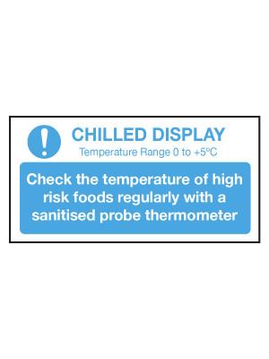 Check Chilled Display Temperature Notice - CS102