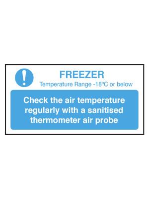 Check Freezer Temperature Notice - CS103