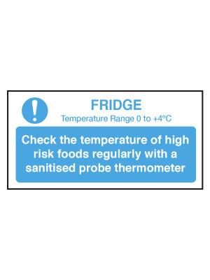 Check Fridge Temperature Notice - CS104