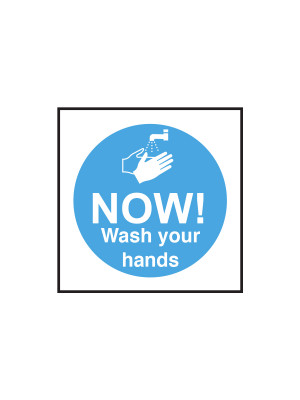 Now Wash Your Hands Notice - CS146