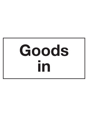 CS159 - Goods In Door Sticker - CS159