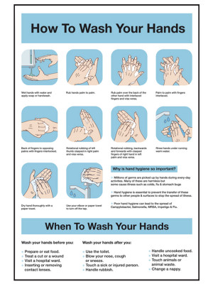 How to Wash Your Hands Notice - CS171