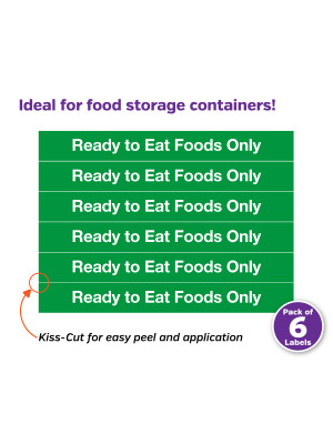 Ready To Eat Food Only Labels