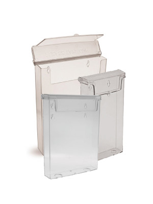 Exterior Leaflet Dispenser with Lid - Multiple Sizes