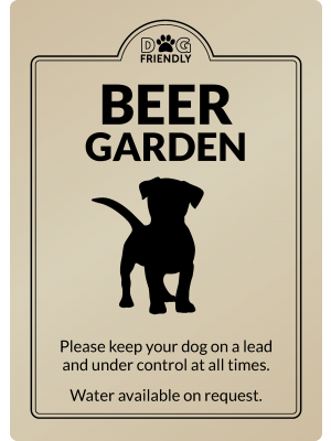 Dog Friendly Beer Garden - Exterior Sign