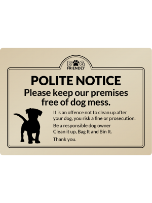 Dog Mess Clean It Up - Exterior Sign
