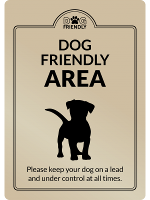 Dog Friendly Area Interior Sign