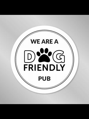 We are a Dog Friendly Pub - Window Sticker