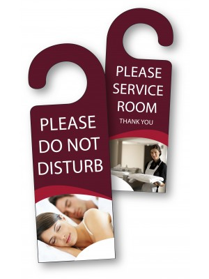 Full Colour Do Not Disturb / Please Service Room Thank You Door Hangers - Multipack - DH010