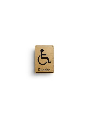 DM024 - Disabled  Symbol with Text Door Sign