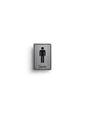 DM043 - Gents Symbol with Text Door Sign