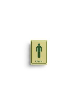 DM063 - Gents Symbol with Text Door Sign