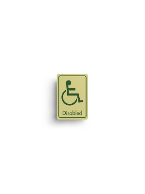 DM064 - Disabled Symbol with Text Door Sign