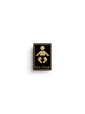 DM085 - Baby Change Symbol with Text Door Sign