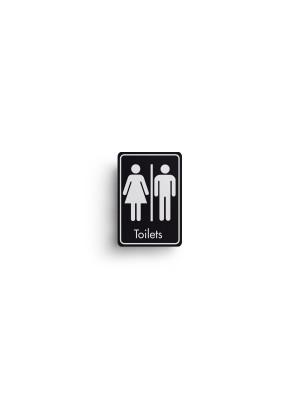 DM101 - Toilets Symbol with Text Door Sign